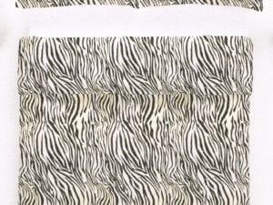 Zebra – flanel