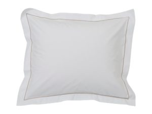 Hotel Pillowcase Percale White/Beige