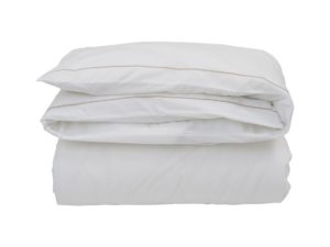 Hotel Flat Sheet Percale White/Beige