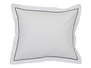 Hotel Pillowcase Percale White/Blue