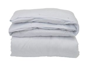 Hotel Flat Sheet Tencel White/Blue