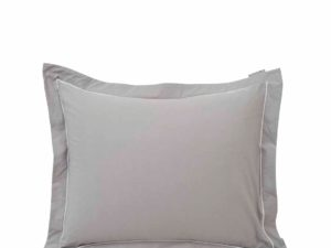Hotel Pillowcase Percale Gray/White