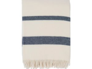Hotel Wool Throw White/Blue