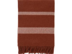Hotel Wool Throw Chestnut/White