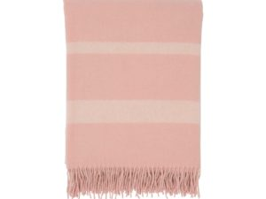 Hotel Wool Throw Pink/White
