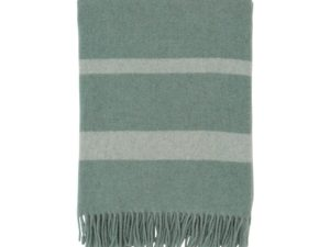Hotel Wool Throw Green/White