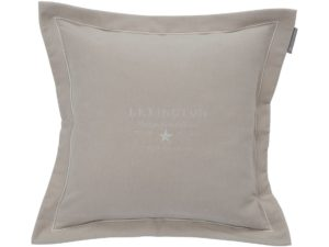 Hotel Pillowcase Velvet Embroidery Beige