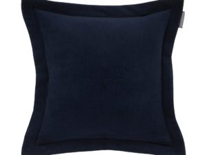 Hotel Pillowcase Velvet Embroidery Blue