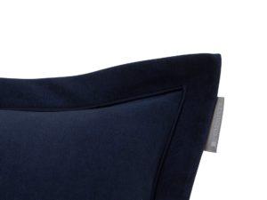 Hotel Pillowcase Velvet Embroidery Blue