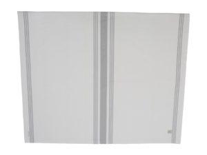 Hotel Tafellaken Striped White/Gray (2)