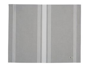 Hotel Placemat Striped Gray/White (6)