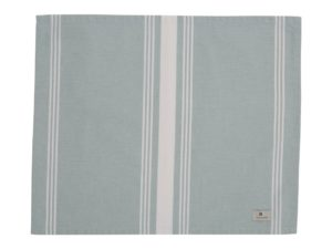 Hotel Placemat Striped Green/White (6)