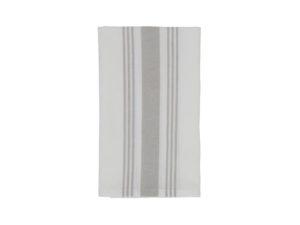 Hotel Napkin Striped White/Gray (12)