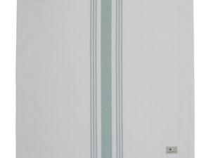 Hotel Napkin Striped White/Green (12)