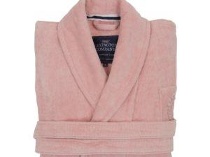 Hotel Robe Velour Pink