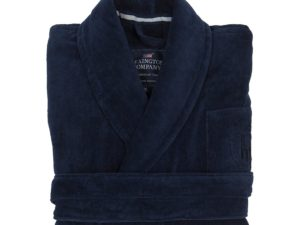 Hotel Robe Velour Blue