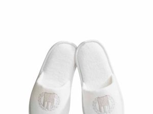 Hotel Slipper Velour White
