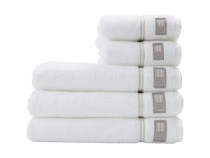 Hotel Towel Terry White/Beige (4)