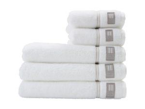 Hotel Towel Terry White/Beige (4)