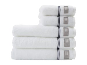 Hotel Towel Terry White/Blue (4)